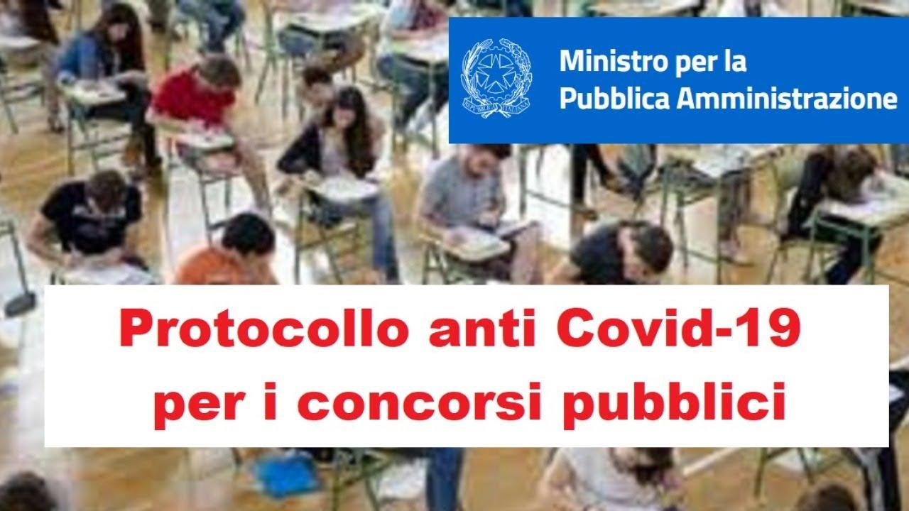 Protocollo anti covid per i concorsi pubblici - commento (04/02/2021)