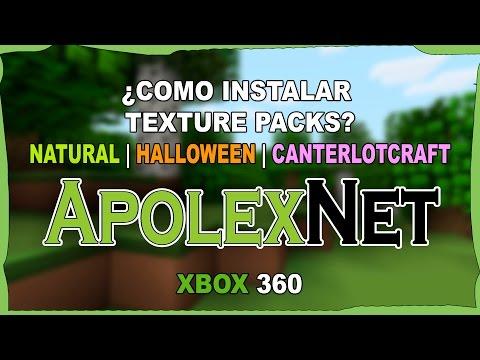 COMO INSTALAR TEXTURE PACKS   HALLOWEEN   NATURAL   CANTERLOT   XBOX 360   FREE