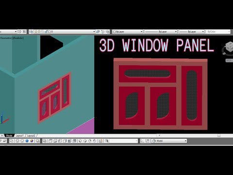 Window panel design in Autocad 3D in 3D house| Autocad 3D Window panel Tutorial | CAD CAREER