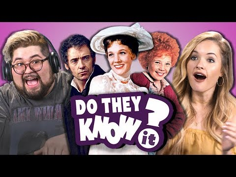 DO COLLEGE KIDS KNOW MOVIE MUSICALS? #2 (REACT: Do They Know It?)
