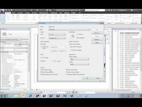 Revit Printing - Full Size PDF