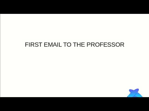 How to write first email to professor