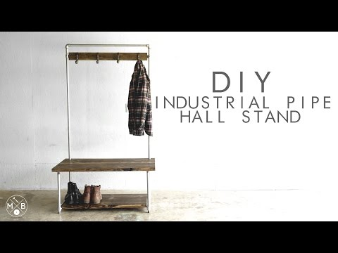 DIY Industrial Pipe Hall Stand   Modern Builds   EP. 37