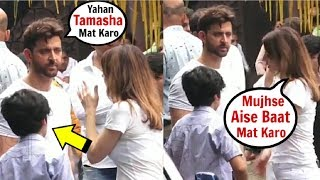 Hrithik Roshan & EX Wife Sussanne Khan FIGHT In FRONT Of Son