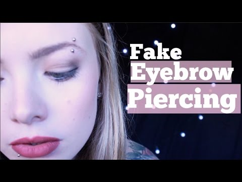 DIY Fake Eyebrow Piercing