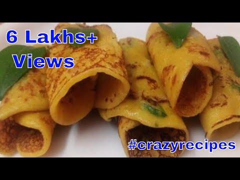 గోధుమపిండి దోస    Wheat Flour Dosa within (2min)    #crazyrecipes    #madhuri