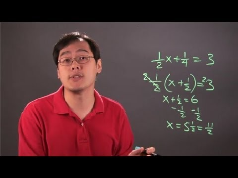 How to Solve Equations by Factoring With Fractions : Fractions 101