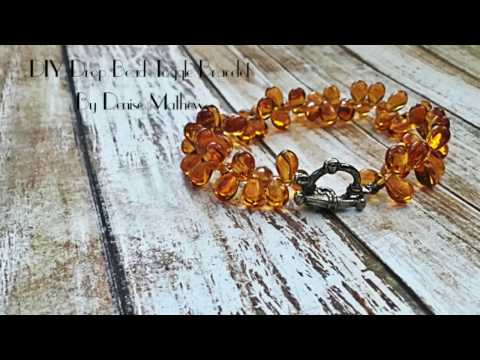 DIY Drop Bead Crystal Toggle Bracelet by Denise Mathew
