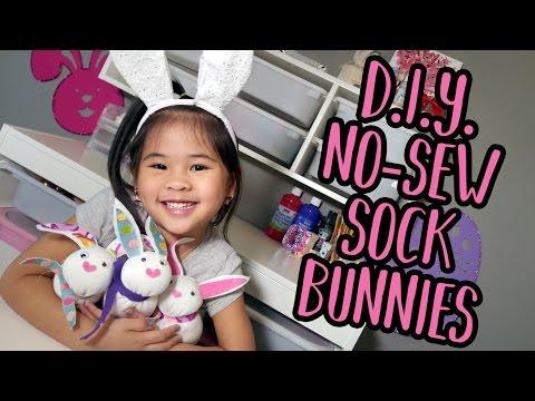 DIY No Sew Sock Bunnies | No Sew Bunny Plush Tutorial | DIY No Sew Plush Animals