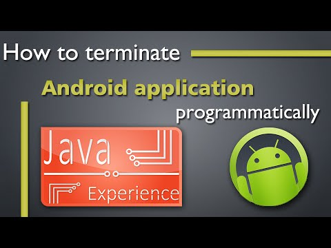 How to terminate Android application programmatically