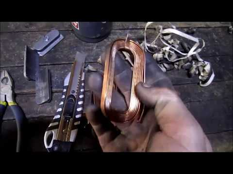 Copper Removal From A Cars Starter Flat Bar Copper