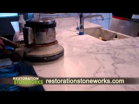 Restoration of Marble Kitchen Countertop
