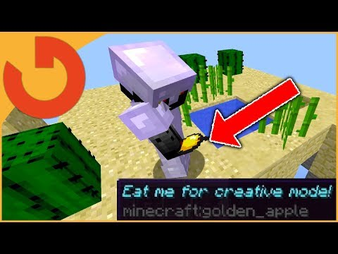 EAT THIS APPLE FOR CREATIVE MODE TROLL! - Will they eat it?