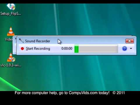 Windows Vista - Using the sound recorder