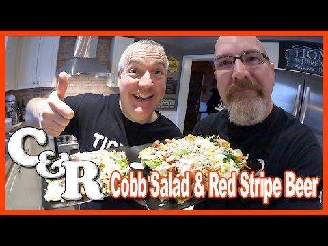 Cobb Salad Recipe & Red Stripe Beer