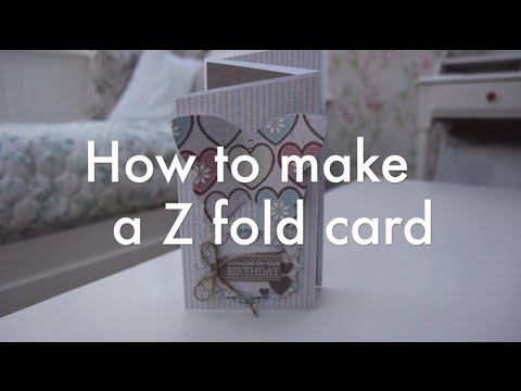 How to make a Z fold card