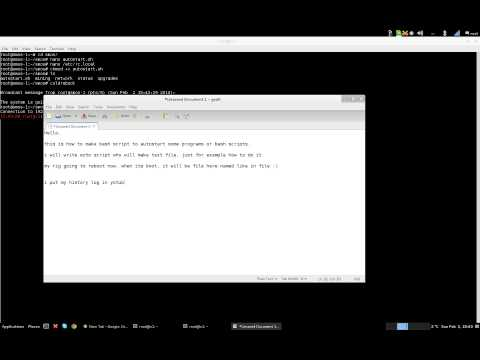 SMOS Linux 1.3 - How to make autostart script (using shell/putty)