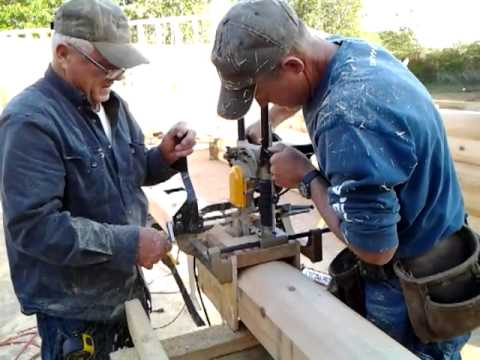 Building a log home part 6 Machining electrical boxes