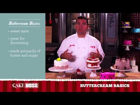 Buttercream Cake Frosting Basics - Icing Tips & Techniques - Cake Boss Baking