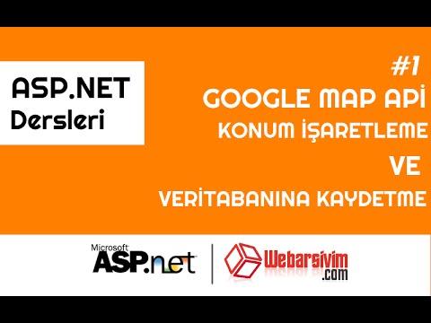 Asp.net Google Map Api Kullanımı - İşaretlenen konumları veritabanına kaydetme