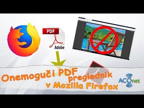 Kako onemogućiti PDF preglednik u Mozilla Firefox internet pretraživaču?