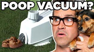 Testing The Dog Poop Vacuum