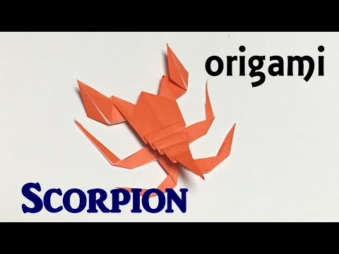 How to make paper scorpion | origami scorpion tutorial only one paper