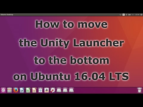 How to move the Unity Launcher to the bottom on Ubuntu 16.04 LTS
