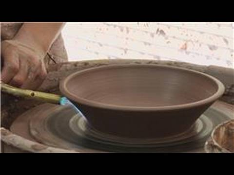 Making a Clay Double Walled Bowl : Torch Drying a Clay Bowl