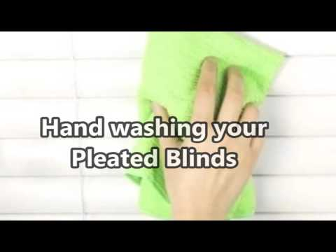 How to Clean your Pleated Blinds