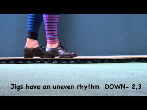 How to do an easy Irish jig step - JIG TASTER!