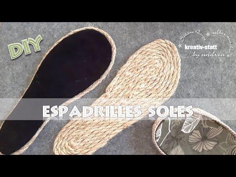 DIY Espadrilles - Outdoor Soles with jute or sisal [How To] EN