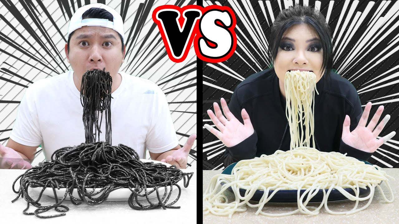 BLACK & WHITE COLORS CHALLENGE | EATING & COOKING ONE COLOR FOOD BY CRAFTY HACKS