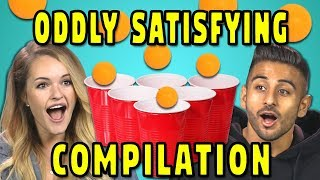 ADULTS REACT TO ODDLY SATISFYING COMPILATION