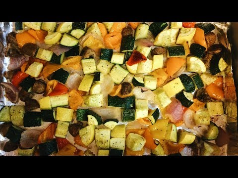 Easy One-Pan Roasted Vegetables!