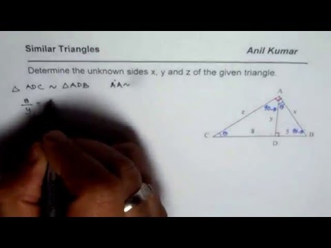 Find Sides and Altitude of Right Triangle Using Similar Triangles or Geometric Mean Theorem