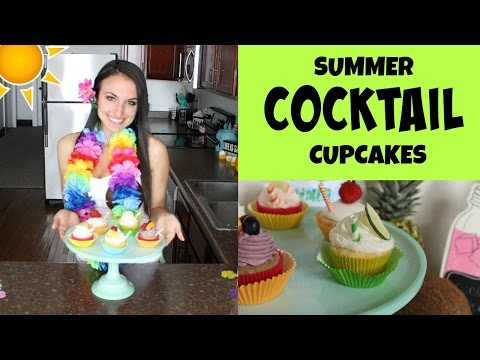 The Five BEST Summer Cocktail Cupcakes | NICKI LEE BAKES