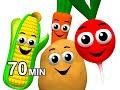 Veggie Songs And Fruit Rhymes Learn Names Of Vegetables Kids