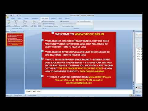 Learn how to trade Nifty Options and Nifty futures - INDIAN STOCK MARKETS