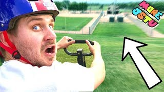 SPEEDING DOWNHILL ON A WAGON!! (JUMP FAIL)