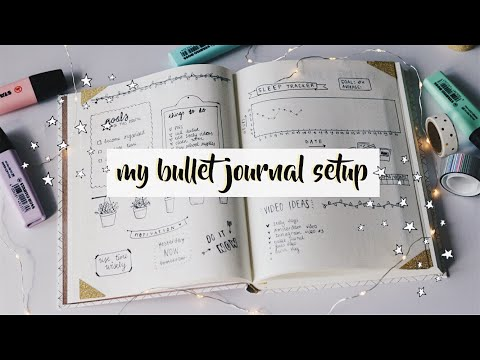 MY FIRST BULLET JOURNAL SETUP AUGUST PLAN WITH ME #1