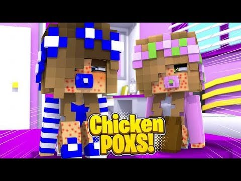 BABY CARLY GETS THE CHICKEN POX! (Little Carly Minecraft).