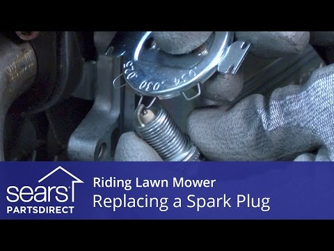 Replacing a Spark Plug on a Riding Lawn Mower