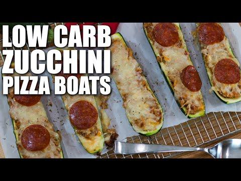 LOW CARB PIZZA ZUCCHINI BOATS RECIPE