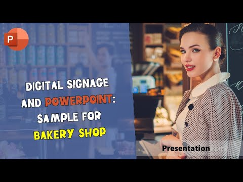 Digital Signage and PowerPoint: Sample for Bakery Shop
