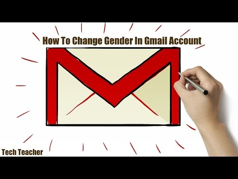 How To Change Gender In Gmail Account