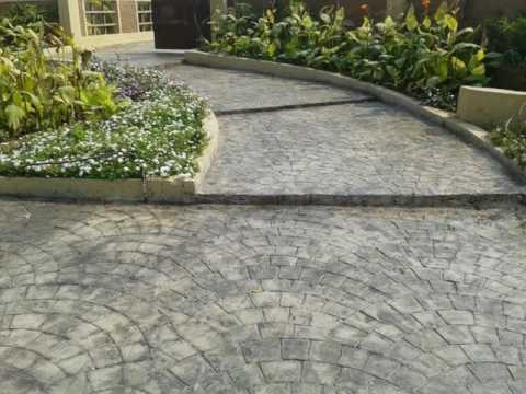 Designer concrete Driveways / Basement / Ramp / Parking area