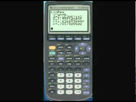 How to do linear regression on TI-83+ graphing calculator