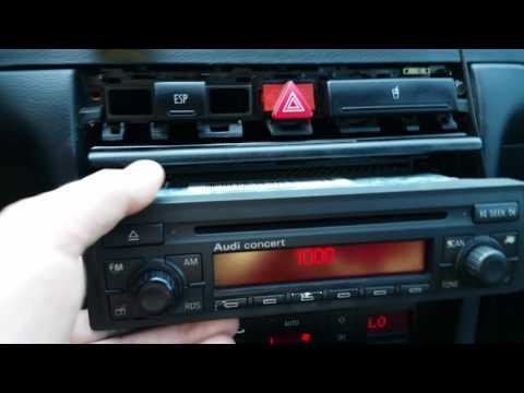 Audi Concert Hogyan adjuk meg a rádió kódot