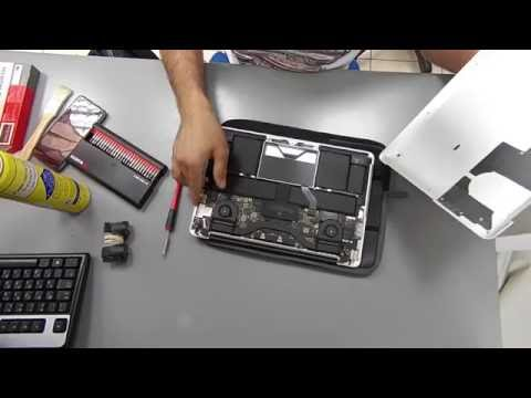 MacBook Pro retina 13'' air-flow dust removal